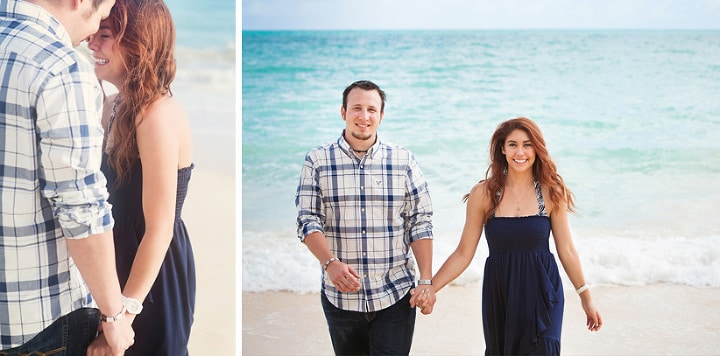Photography of a surprise wedding proposal at Waimanalo Beach in Hawaii